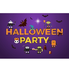 Halloween Party word design vector image