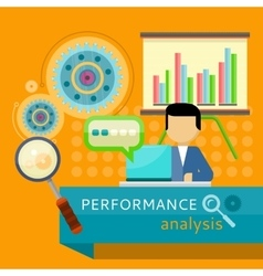 Performance Analysis Banner Search for Solutions vector image vector image