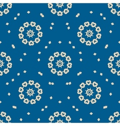 Seamless blue background with abstract oriental vector image vector image
