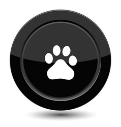 Button with trail foot vector image vector image