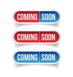 Coming soon button sign vector
