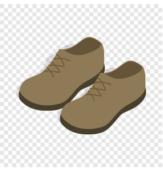 male shoes isometric icon vector image vector image