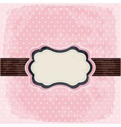 vintage polka dot design vector image vector image