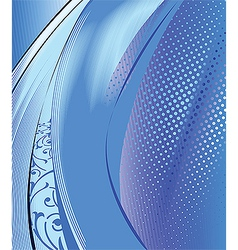 abstract blue composition background vector image