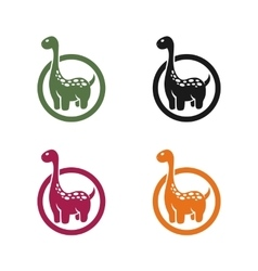 dinosaur emblem on a white background vector image