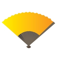Isolated hand fan vector