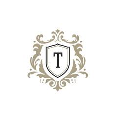 Luxury monogram logo template object for vector