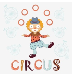 Stylish card with clown vector image vector image