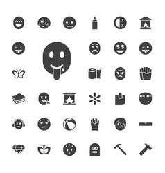 33 yellow icons vector