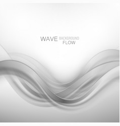 abstract swoosh wave smoke border frame layout vector image