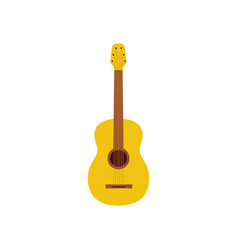 acoustic guitar a musical instrument icon flat vector image