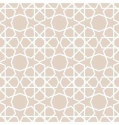 arabic pattern seamless background vector image