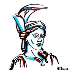 athena portrait vector image