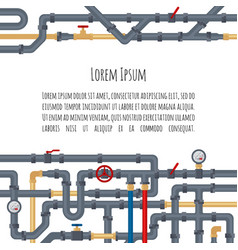 background with tubes and pipelines on white vector image