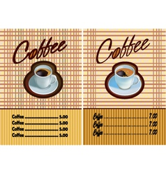 Banner for restaurant and cafe Coffee vector image