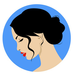 beautiful woman with retro hairstyle and nice vector image vector image