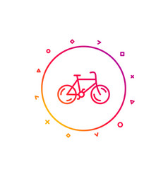 bicycle transport line icon bike public vector image