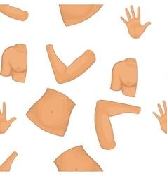 Body pattern cartoon style vector