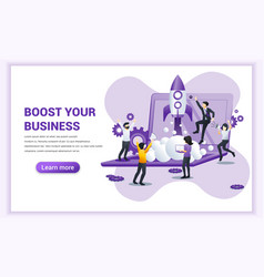 Boost your business concept with people working vector
