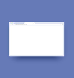 Browser window mockup with empty space for website vector