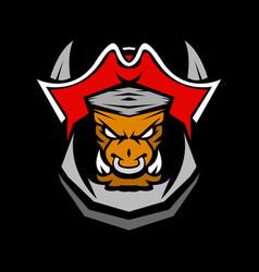 bull pirates esport mascot sport logo vector image