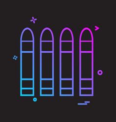 Bullets icon design vector