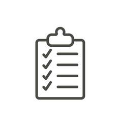 checklist icon line clipboard symbol vector image