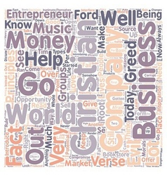 Christian entrepreneur text background wordcloud vector