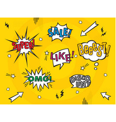 comic art speech bubbles vector image