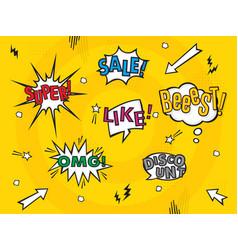 comic art speech bubbles vector image