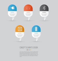 Computer hardware icons set collection of music vector