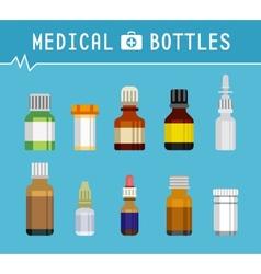 Cool Various Medication Bottles for Medical vector