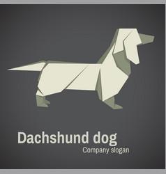dachshund dog origami vector image