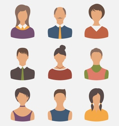 different male and female user avatars vector image