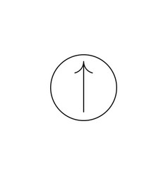 direction arrow up icon isolated vector image