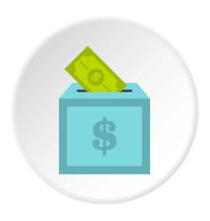 Donation box icon circle vector
