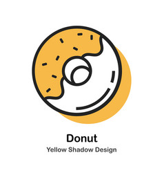 Donut lineal color vector