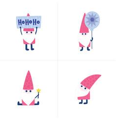 doodles christmas santas vector image