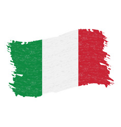 flag of italy grunge abstract brush stroke vector image