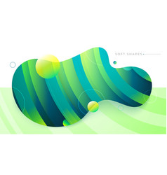 flat liquid color abstract geometric shape fluid vector image