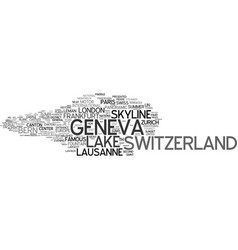 Geneva word cloud concept vector