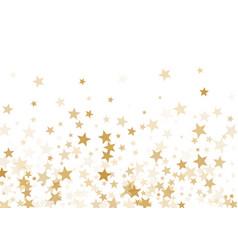 gold stars confetti falling holidays vector image