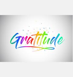 Gratitude creative word text vector