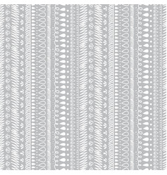 Grey and white decorative ikat stripes vector