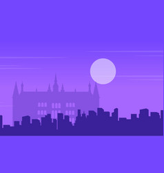 Guidhall london at night landscape collection vector