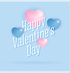 happy valentines day greeting card background vector image