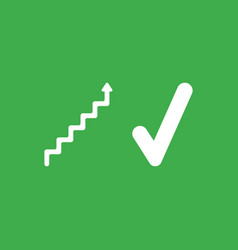 icon concept of stairs with arrow moving up and vector image