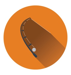 Icon of curved fishing tackle vector image