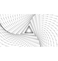 Infinite triangular tunnel of arrows vector
