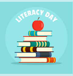 International literacy day new background flat vector